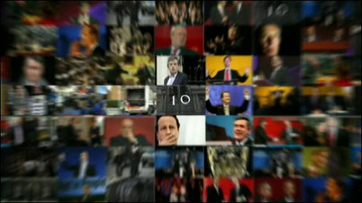 A pictorial montage of the election's key moments
