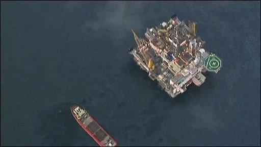 Drilling platform and ship