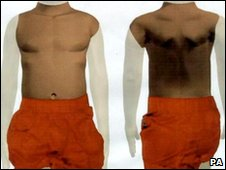 The police picture of the torso recovered from the Thames
