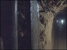 A tunnel under Egypt's steel barrier