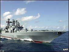 Russian warship Marshal Shaposhnikov (file picture 2003)