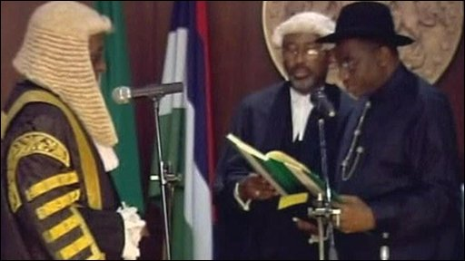 Goodluck Jonathan has been sworn in as president of Nigeria