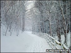 Snow in the south east of England