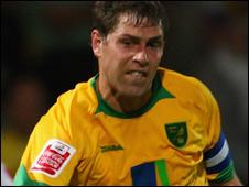 Norwich Citty striker Grant Holt