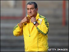 South Africa's Brazilian coach Carlos Alberto Parriera