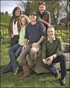 Springwatch presenters Martin Hughes-Games, Kate Humble, Simon King, Chris Packham and Gordon Buchanan
