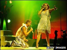 The Scissor Sisters on stage
