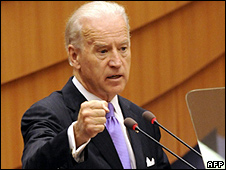 US Vice-President Joe Biden addressing European Parliament, 6 May 10