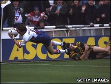 Jonathan Davies scored the match-winning try for Great Britain in 1994