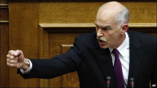 Prime Minister George Papandreou said violence was 'not a solution