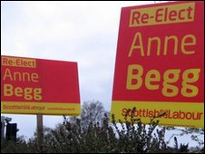 Anne Begg signs