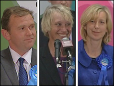 George Eustice, Sheryll Murray and Sarah Newton