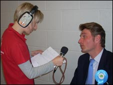 BBC Shropshire's Liz Roberts and Daniel Kawczyski