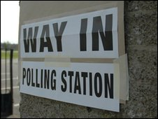 Polling station slgn