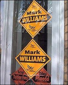 Lib Dem posters in Ceredigion