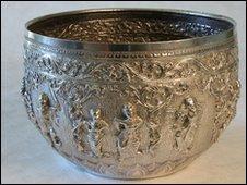 Stolen silver bowl