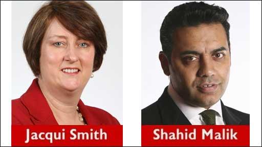 Jacqui Smith and Shahid Malik