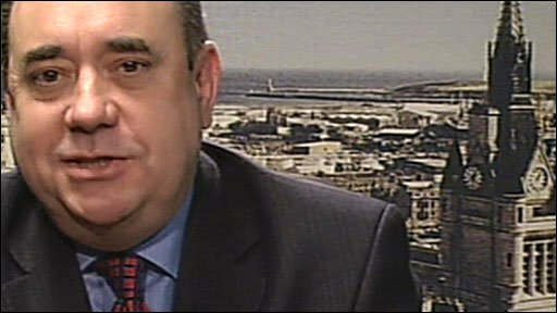 Scottish National Party leader Alex Salmond