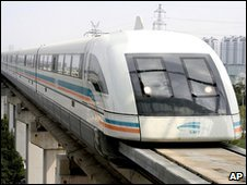 Shanghai's Maglev train, China