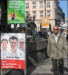 Election posters in Wuppertal