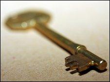 A gold key