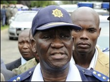 South African police chief Bheki Cele on 9 April