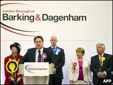 BNP leader Nick Griffin speaking