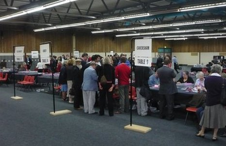 Rivermead Reading Local Council Election count
