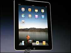 Apple iPad unveiled by Steve Jobs