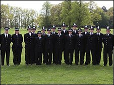 The new police recruits