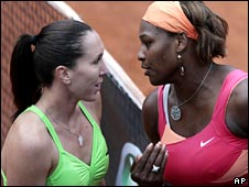 Jelena Jankovic and Serena Williams