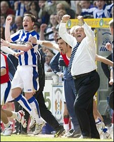 Kilmarnock's bench were delighted at Rugby Park