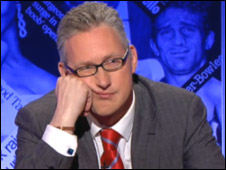 Lembit Opik hams it up on BBC One's Have I Got News for You