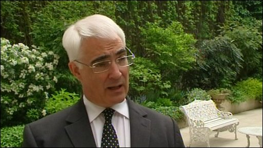 Labour Chancellor Alistair Darling