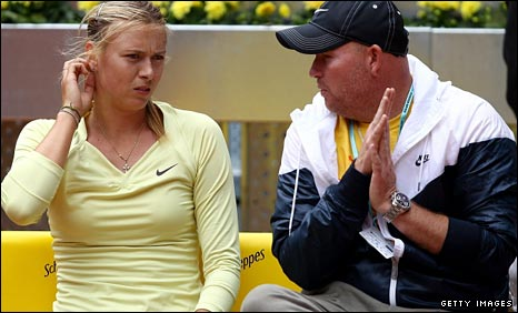 Maria Sharapova and coach Michael Joyce