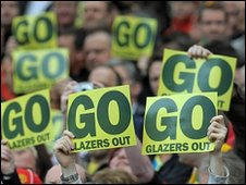 Anti-Glazer protests at Old Trafford on Sunday