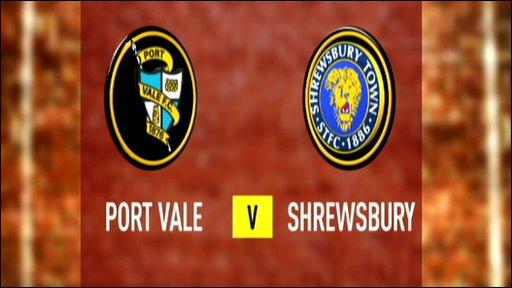Port Vale 1-1 Shrewsbury