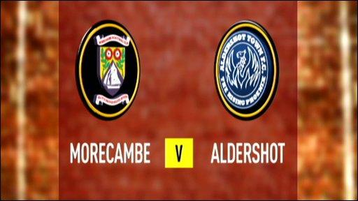 Morecambe 1-0 Aldershot