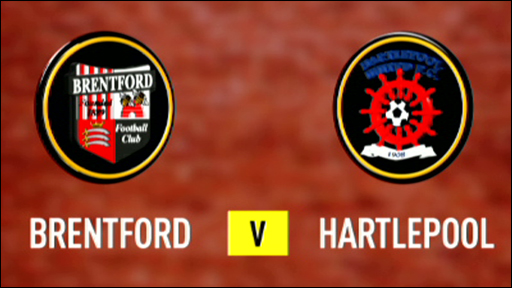 Brentford and Hartlepool club badges