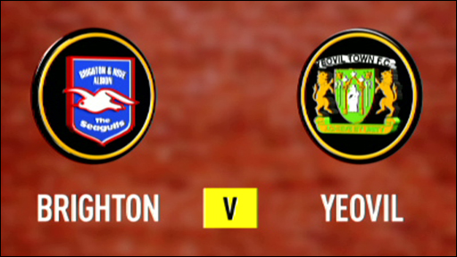 Brighton and Yeovil club badges