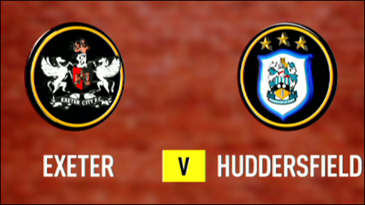 Exeter and Huddersfield club badges