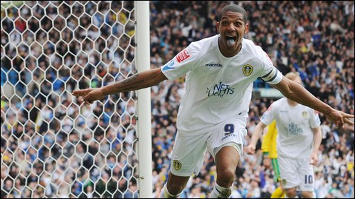 Leeds striker Jermaine Beckford