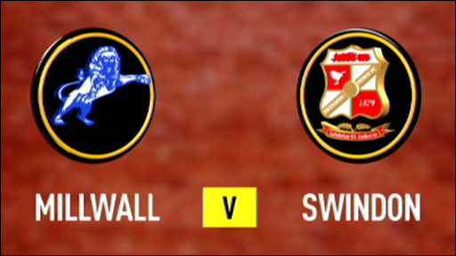 Millwall and Swindon club badges
