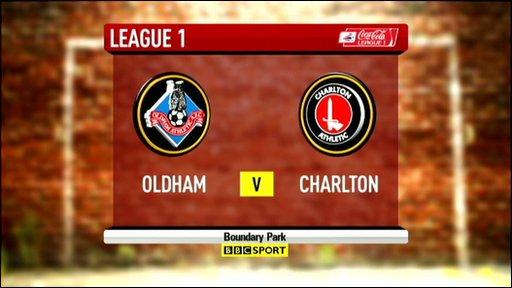 Oldham 0-2 Charlton