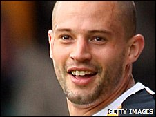 Port Vale striker Marc Richards