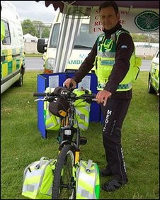 Pete Barrow with bike