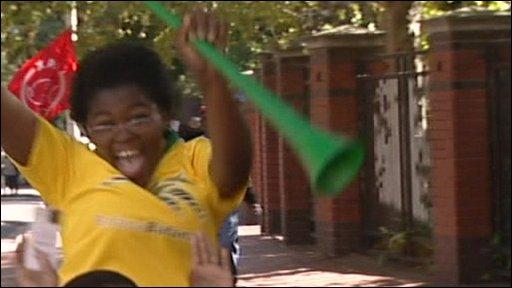 Child with vuvuzela