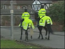 North Wales Police horses