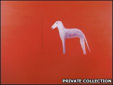 Dog in red 1975, from private collection