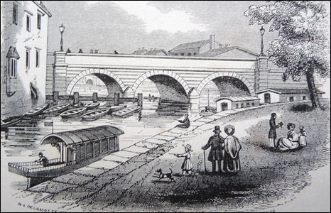 Folly Bridge in the 1830s